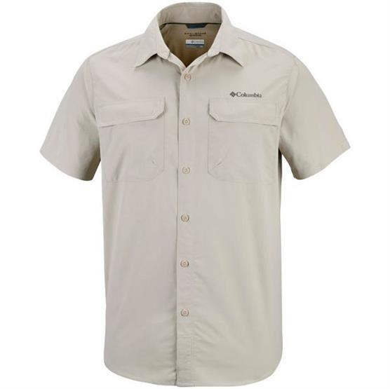 Columbia Sportswear Columbia Silver Ridge II Short Sleeve Shirt Mens, Fossil