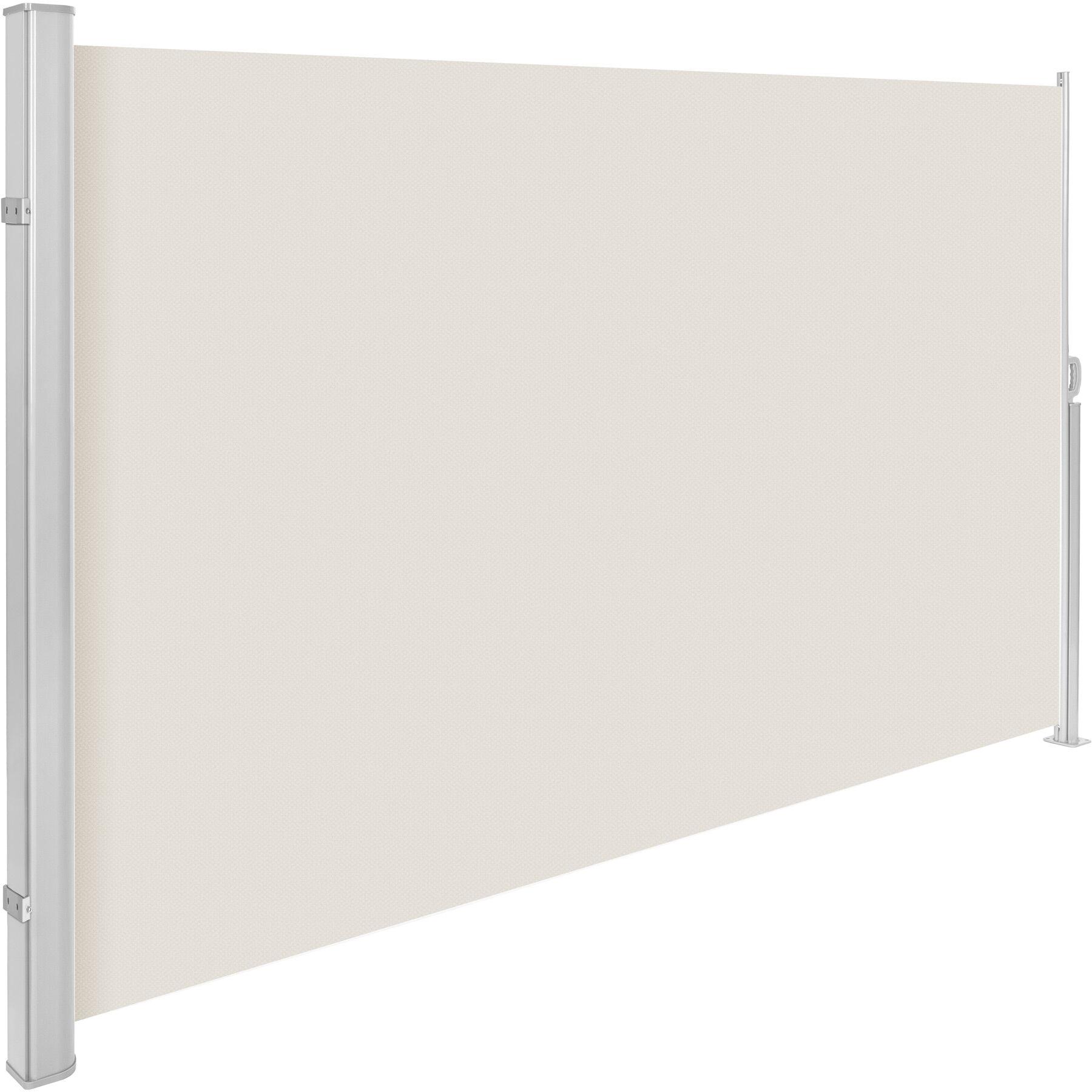 tectake Læhegn i aluminium og polyester - beige, 160 x 300 cm