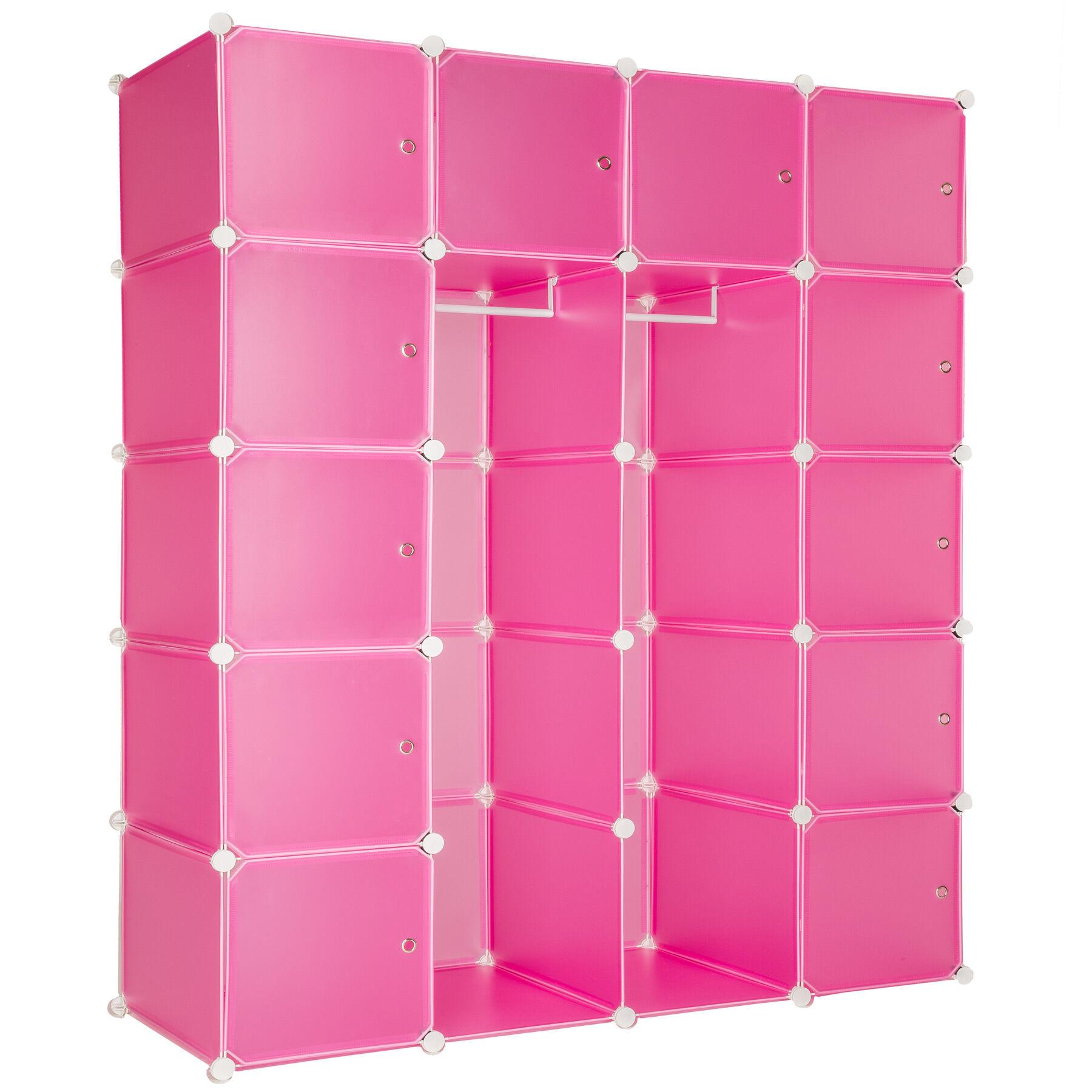 tectake Reolsystem med 12 skabselementer Anita - pink
