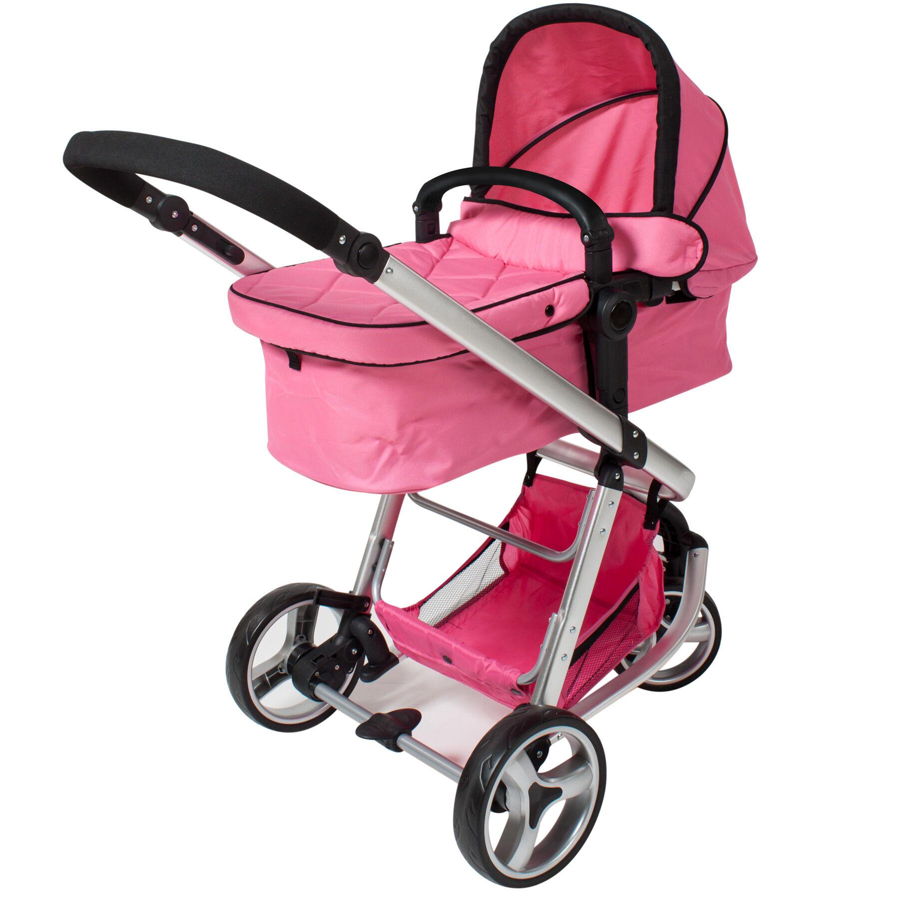 tectake Barnevogn 3-hjul - pink