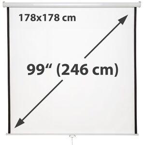 tectake HDTV Projektorlærred - 178 x 178 cm