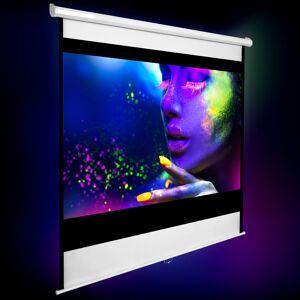 tectake HDTV Projektorlærred - 152 x 152 cm