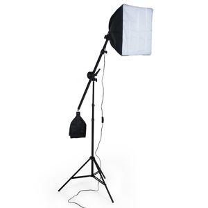 tectake Studielys til digital og analog fotografering softbox med lampe model 2 - sort
