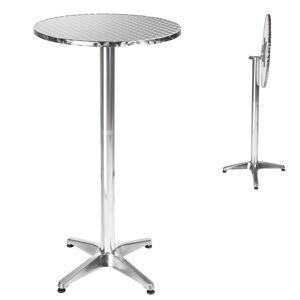 tectake Cafebord i aluminium Ø60cm - 5,8 cm, foldbar