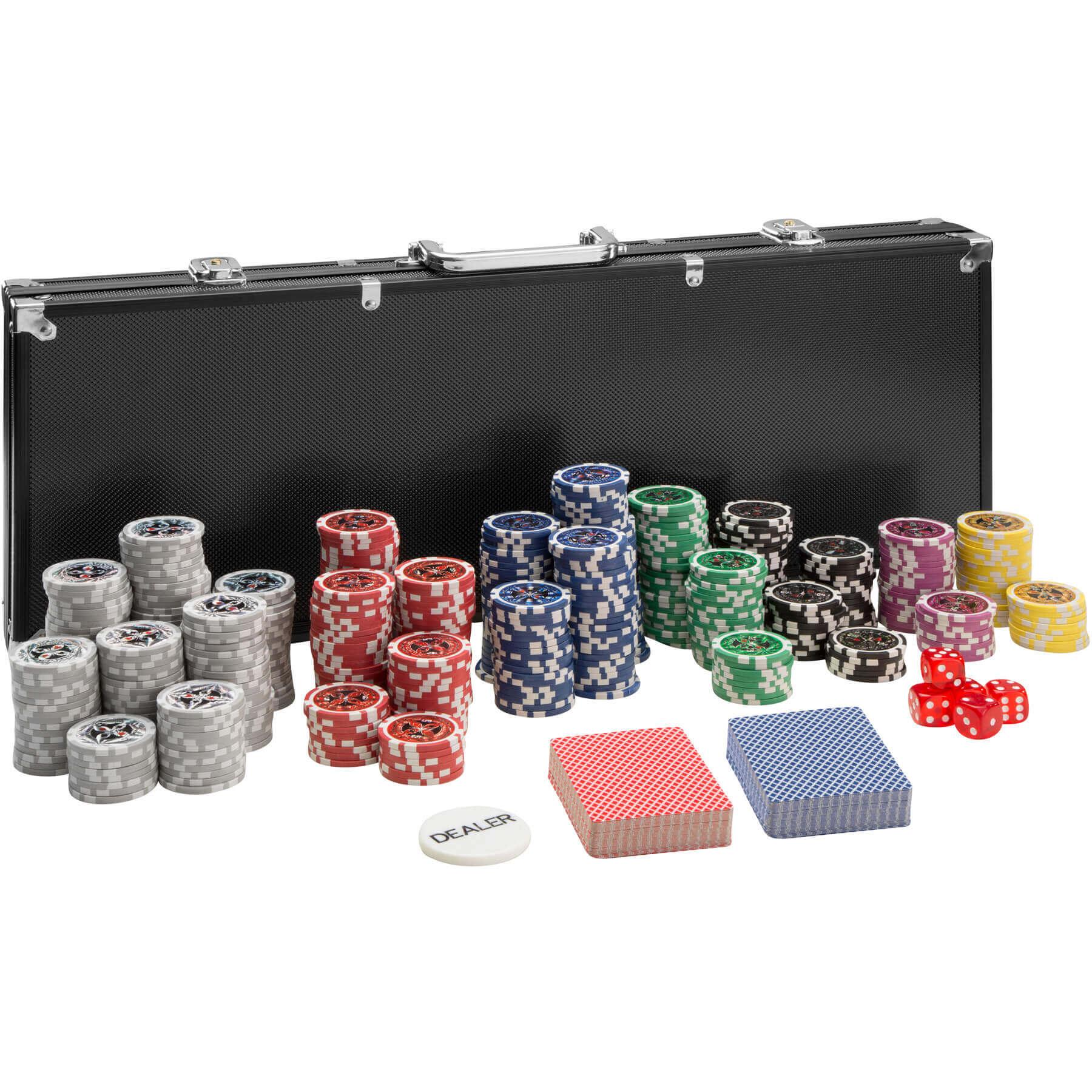 tectake Pokersæt - sort, 500 dele