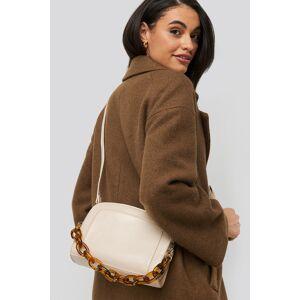 NA-KD Accessories Big Chain Shoulder Bag - Beige