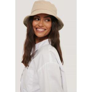 NA-KD Accessories Bendable Edge Bucket Hat - Beige