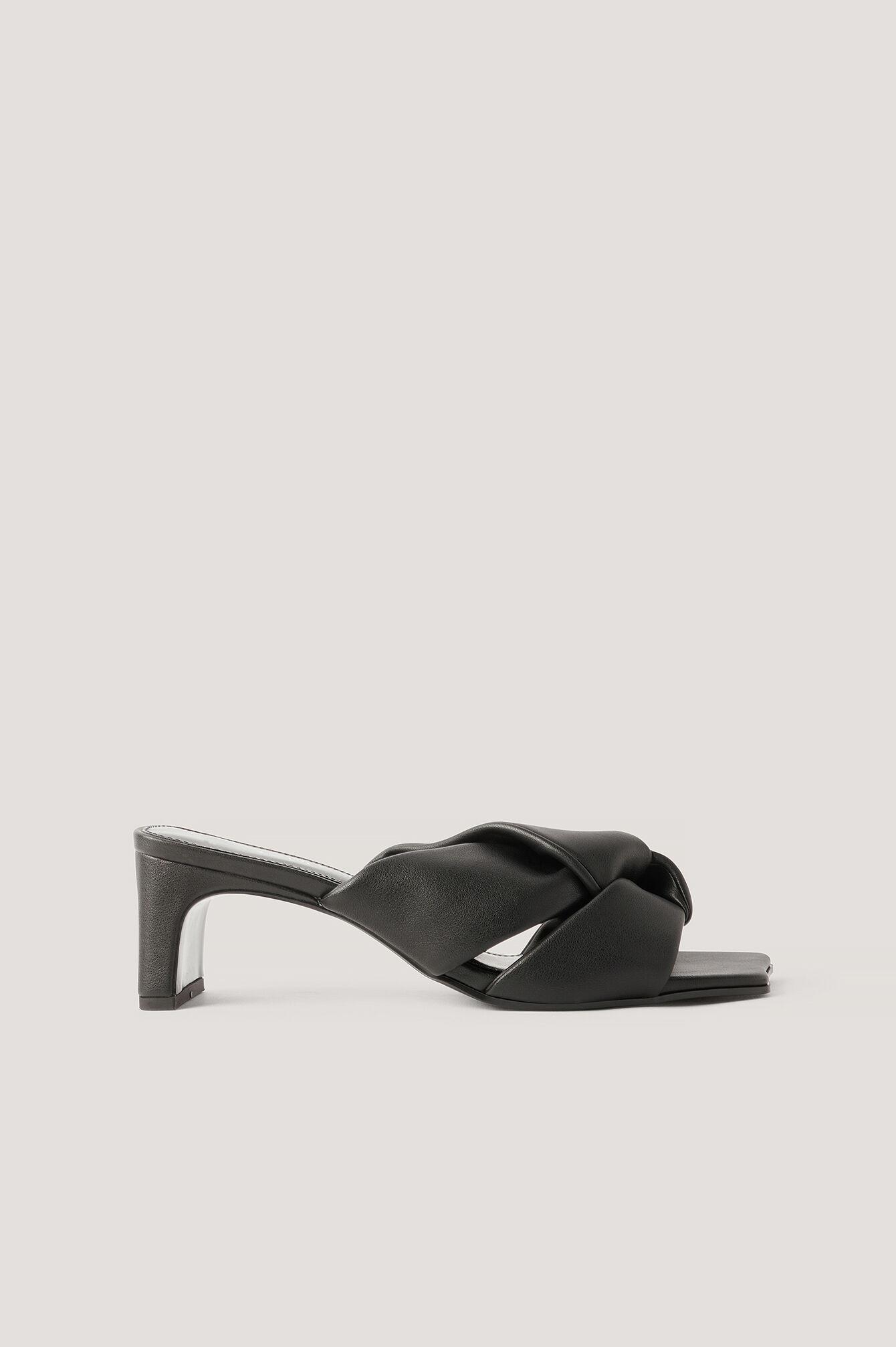 MANGO Sandaler Med Sløjfe - Black