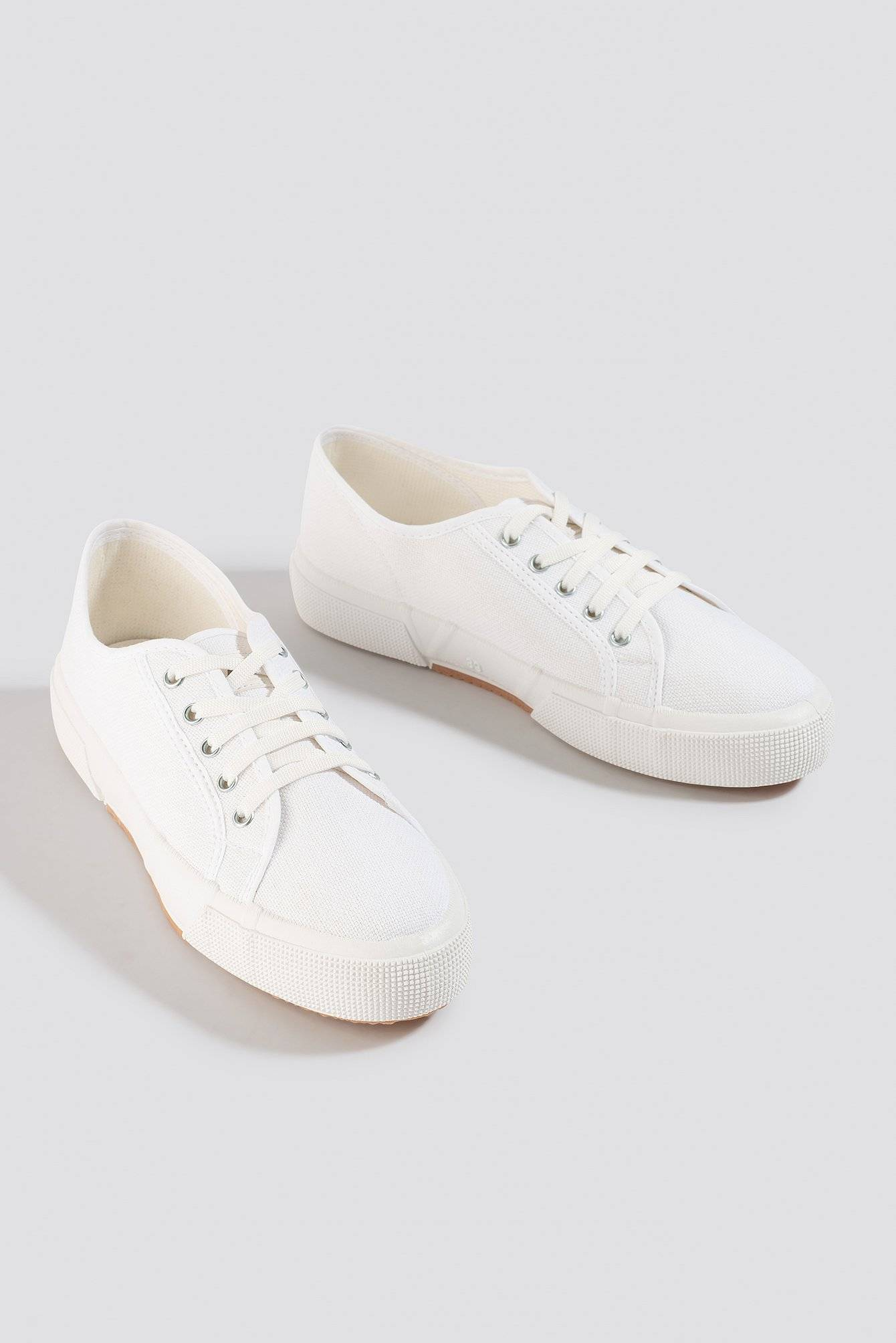 NA-KD Shoes Basic Canvas Sneakers - White