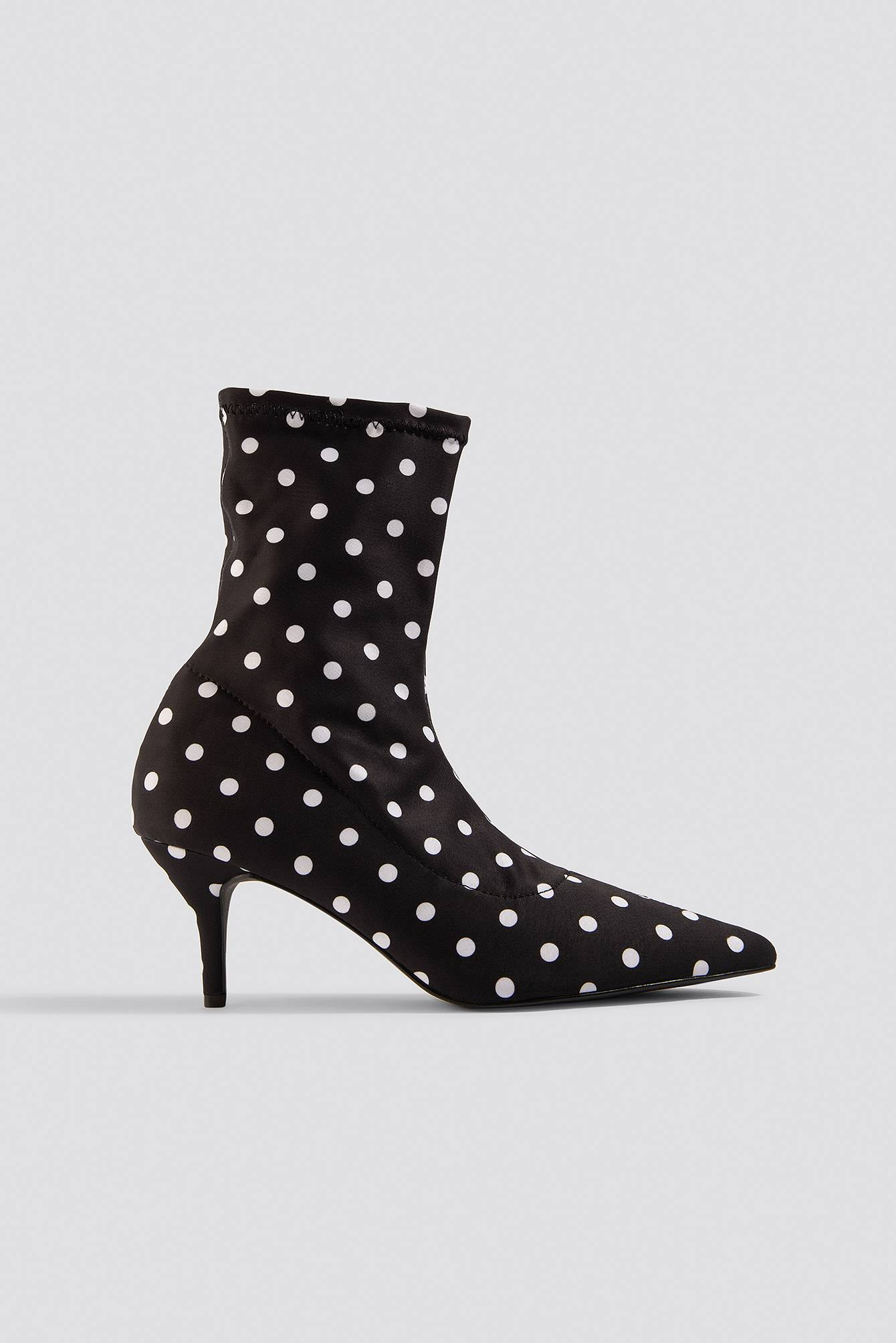 NA-KD Shoes Dotted Sock Boots - Black