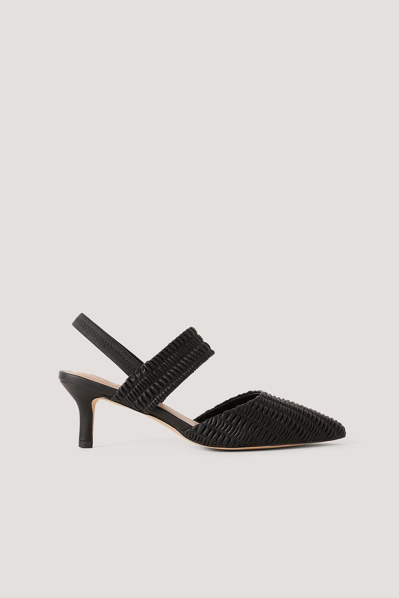 NA-KD Shoes Pumps Med Flæseslingback - Black
