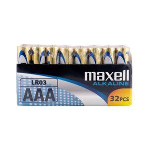 Maxell AAA Alkaline Batterier - 32 stk.