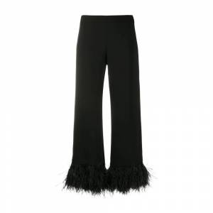 P.a.r.o.s.h. Feather trimmed cropped trousers s (Sort)