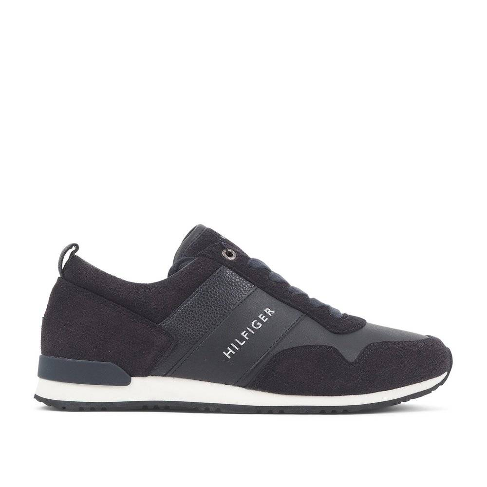 Tommy Hilfiger Suede Midnight Sneakers (Sort)