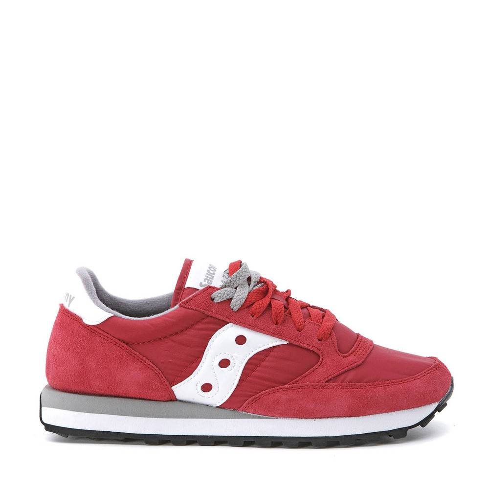 Saucony Sneaker Saucony Jazz in red suede and nylon (Rød)