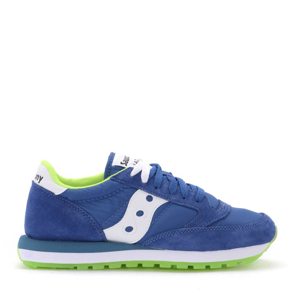 Saucony Jazz bluette and lime green suede and fabric sneaker (Blå)