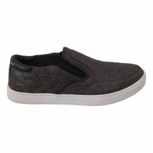 Dolce & Gabbana Flad Caiman Loafers Sko (Grå)