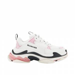 Balenciaga Triple S leather and Mesh Sneakers (Hvid)
