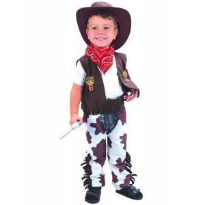 Vegaoo Cowboy deluxe - udklædning til børn - 3-4 år (92-104 cm) - XS