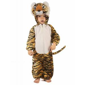 Vegaoo Deluxe tigerkostume til børn - 98 - 104 cm (3-4 år)