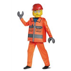 Vegaoo Deluxe LEGO arbejdsmandkostume til børn - 4-6 år (109-124 cm)