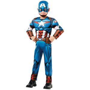 Vegaoo Captain America deluxe kostume til drenge - 3-4 år (90-104 cm)