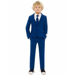 Vegaoo Mr. Marineblå jakkesæt til børn - Opposuits - 98-104 cm (4-6 år)