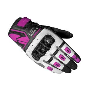 Rio MC-Handsker Spidi G-Carbon Dame, Sort/Pink