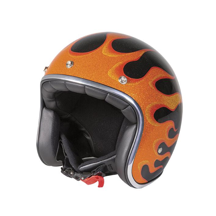 Stormer Pilothjelm Stormer Pearl, Orange/Metal
