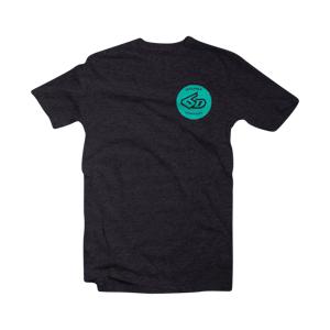 T-Shirt 6D Circle, Sort