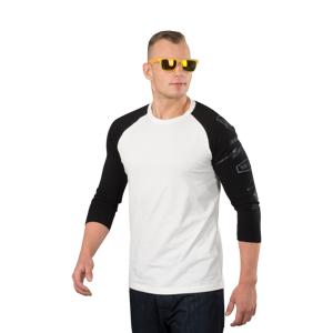 T-shirt Dainese Thunder72 3/4 Ærmer, Hvid/Sort Sort/Hvid