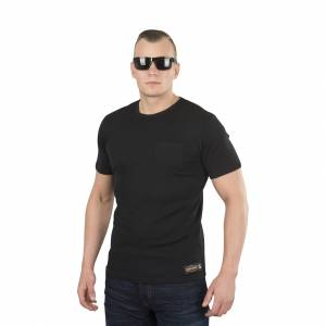T-Shirt West Coast Choppers Jesse James Workwear Sturdy Pocket, Sort Sort