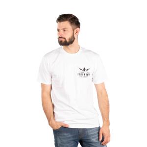 T-Shirt West Coast Choppers Blast Logo, Hvid