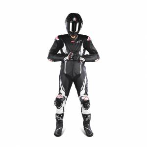 Læderdragt Alpinestars Racing Absolute Tech-Air®, Sort/Hvid