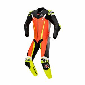 Læderdragt Alpinestars GP Tech V3 Tech-Air®, Neonrød/Sort/Neongul