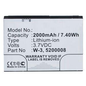 Noname Batteri W-3 til bl.a. Aircard 762s (Kompatibelt)