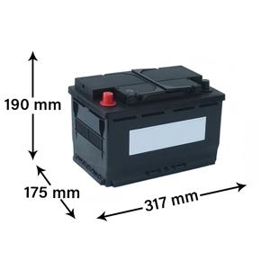 Noname Bilbatteri - 12V 90Ah
