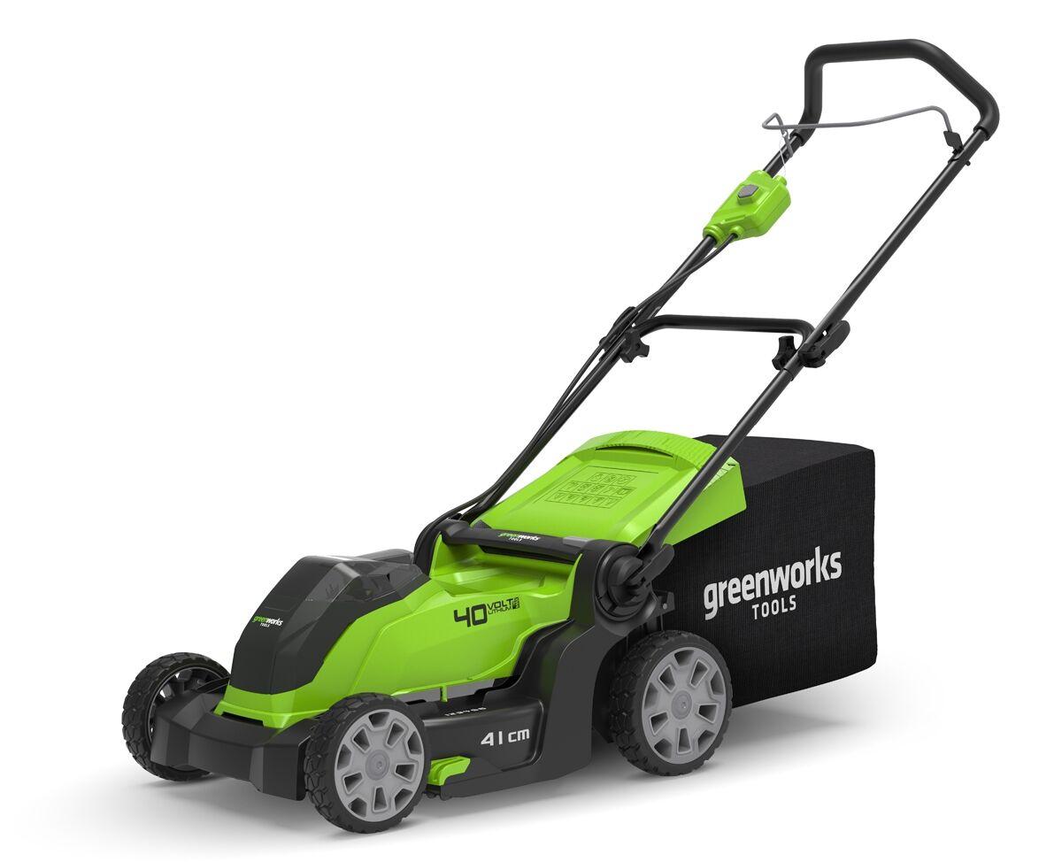 Greenworks,  G40LM41, Plæneklipper 41cm,  40V,  m/4Ah batteri og...