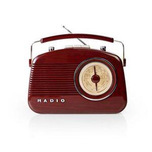Nedis, FM-radio, Borddesign, Analog, 4.5W, Jackstik, Bærehåndtag,...