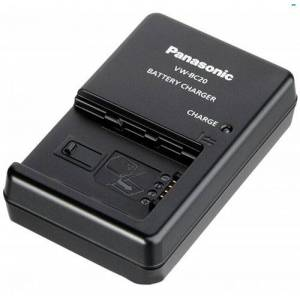 Panasonic VW-BC20E-K oplader til kamerabatterier (Original)