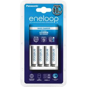 Panasonic eneloop K-KJ51MCC04E oplader inkl. 4 stk. eneloop AAA batterier - 2...