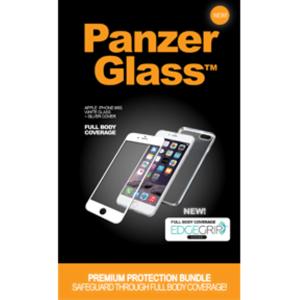 PanzerGlass PREMIUM til iPhone 6/6S White inkl. EdgeGrip Cover