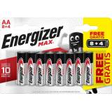 Energizer Max AA / E91 Batterier (12 Stk. Blister) (8+4)