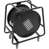 Omnitronic Multicore Stagebox 16/4 50m cable reel TILBUD kabelrulle kabel hjul