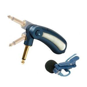 Tie-clip revers-mikrofon m. 6,35mm JACK og strømfors. strömfors binde klip mm