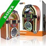 basicXL BXL-JB10 Bord Radio Jukebox FM / AM CD Brun