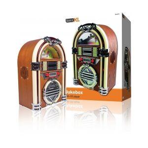 Jukebox basicXL Bord Radio Jukebox FM / AM CD Brun, BXL-JB10 TILBUD afspiller with og er