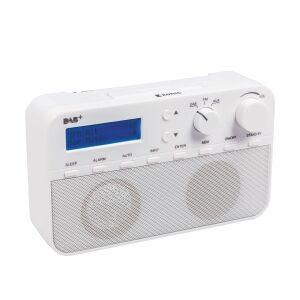 König Bærbar Dab + Radio FM / DAB / DAB+ AUX Hvid, HAV-DABR100WH TILBUD NU with