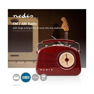 Nedis UKW-radio   4.5 W   Bærehåndtag   Brun, RDFM5000BN TILBUD NU