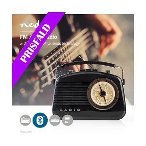 Nedis UKW-radio   5,4 W   Bluetooth®   Bærehåndtag   Sort, RDFM5010BK TILBUD NU